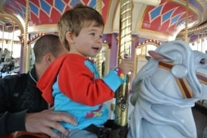 Ethan on the Prince Charming Regal Carrousel