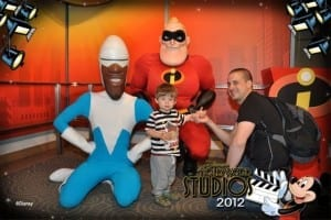 Ethan meets The Incredibles at Hollywood Studios