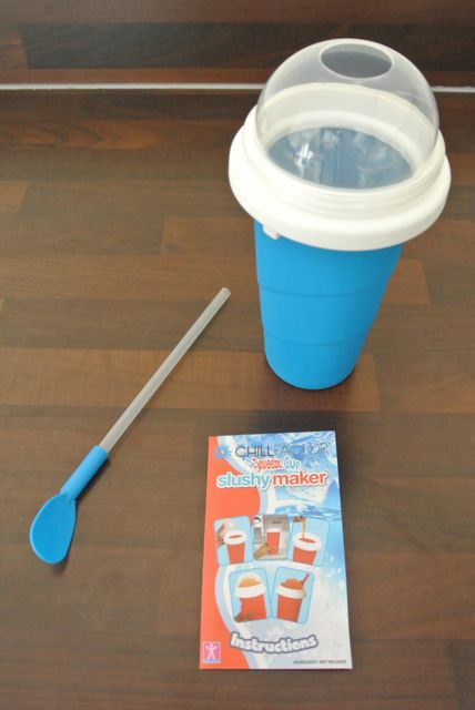 chill factor slushy maker instruction booklet