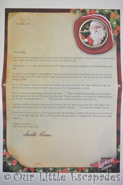 babys first christmas letter from santa personalised letters