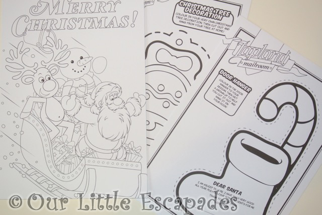 personalised letter from santa activity pack