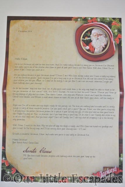 personalised letters from santa