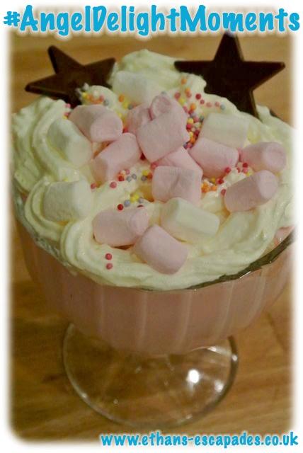 Angel Delight Bubblegum flavour Trifle
