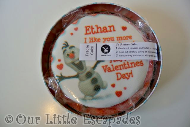 Baker Days Valentines Letterbox Gift Cake