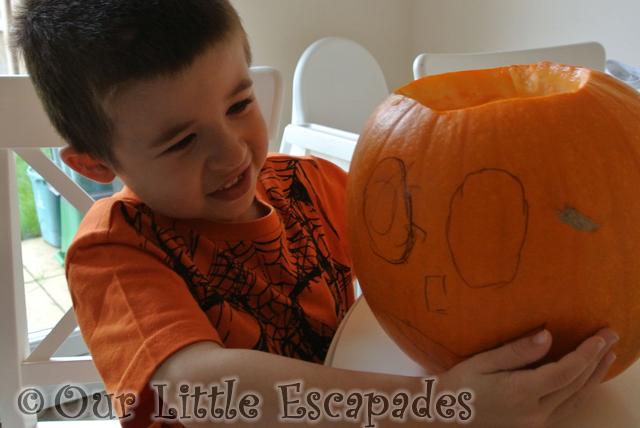 ethan pumpkin carving