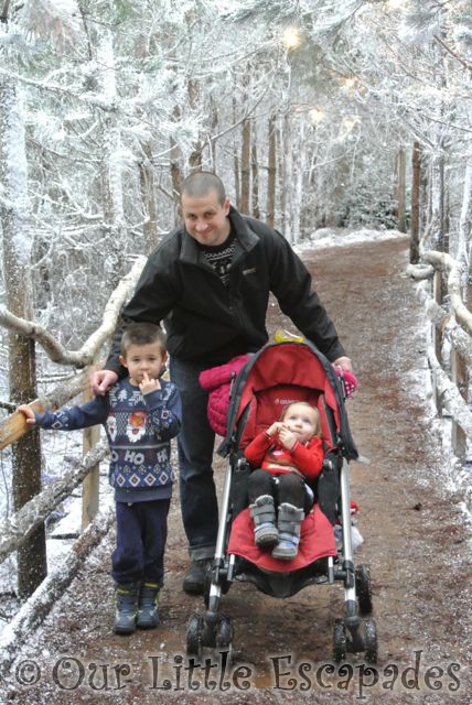 darren ethan little e woodland snowy path