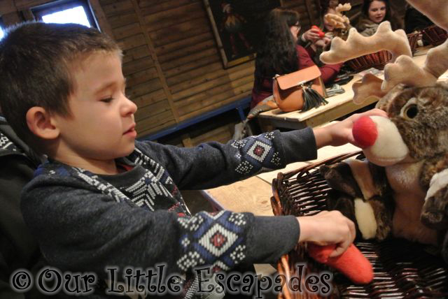 ethan making reindeer toy lapland uk toy factory