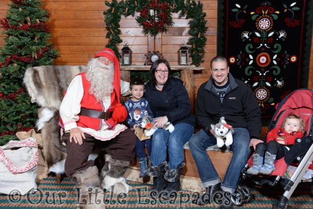family photo visiting father christmas lapland uk superstar day
