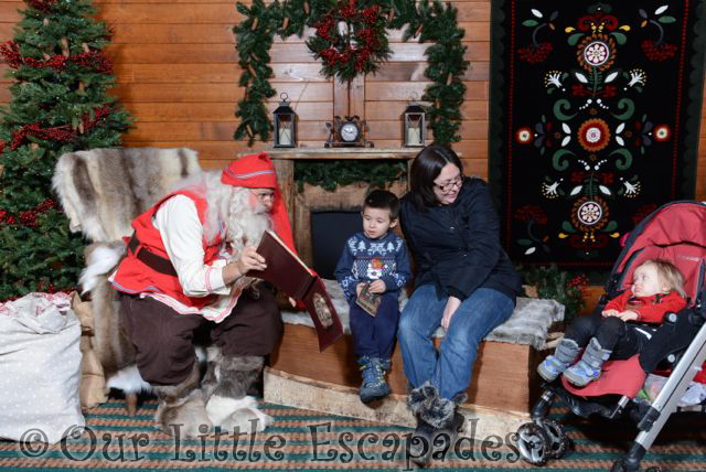 jane ethan little e meeting father christmas at lapland uk