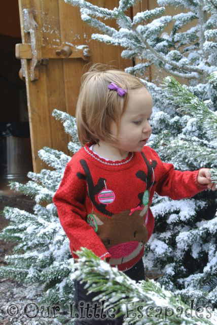 little e snowy christmas trees lapland uk superstar day