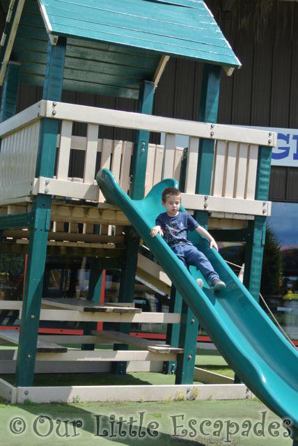 ethan playground slide diggerland kent