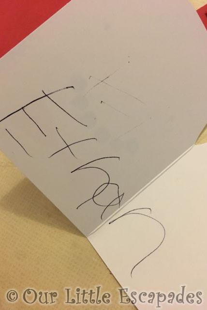 writing-his-own-name