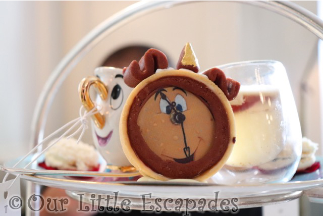 beauty and the beast afternoon tea cogsworth chip