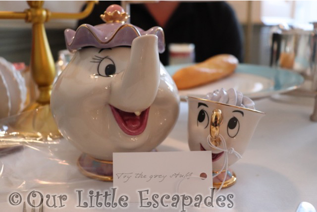 beauty and the beast afternoon tea mrs potts chip grey stuff