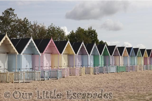 mersea island pastel beachhuts