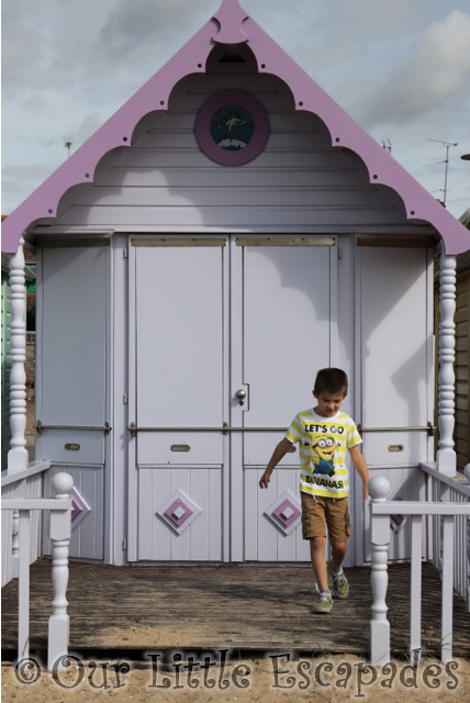 mersea island purple beachhut