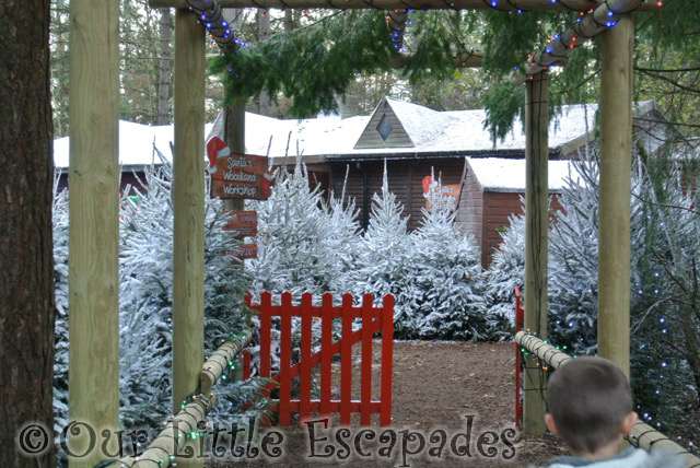 santas woodland workshop entrance elveden forest