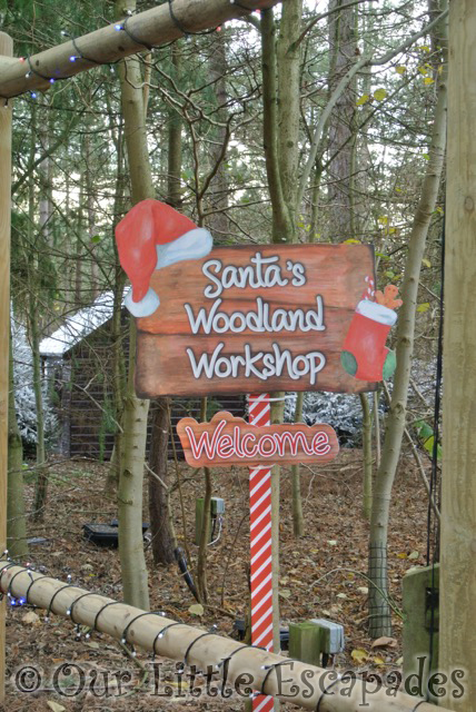santas woodland workshop sign elveden forest