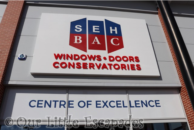 seh bac showroom colchester centre excellence sign