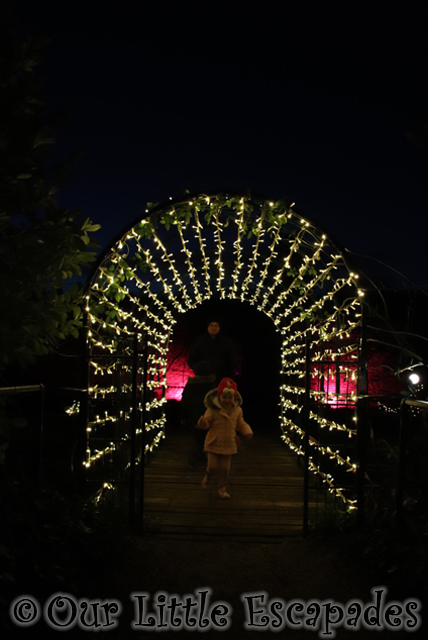 christmas light tunnel enchanted audley end