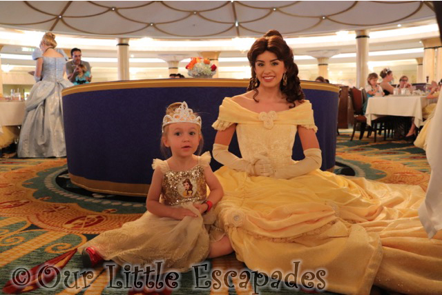 little e belle disney cruise royal court royal tea princess