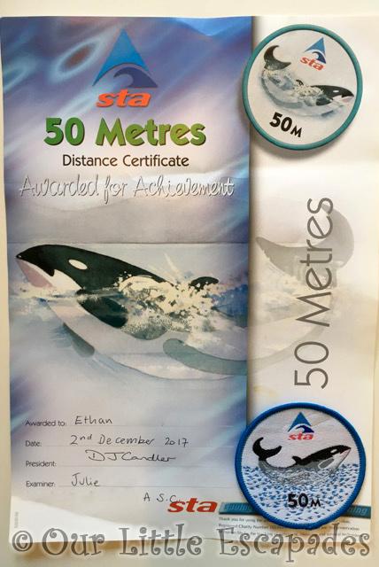 swimming 50 metres