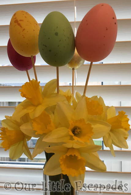 daffodils decorative easter eggs my sunday photo