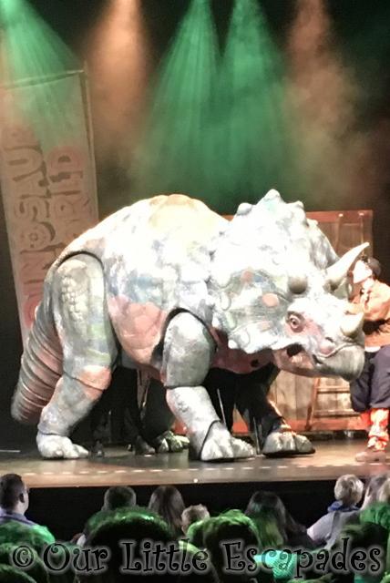 dinosaur world live triceratops