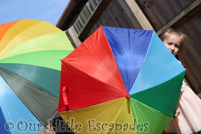susino rainbow umbrellas