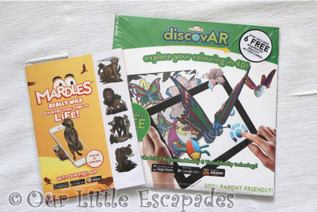 mardles discovar interactive colouring book stickers