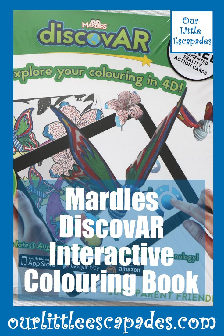 mardles discovar interactive colouring book