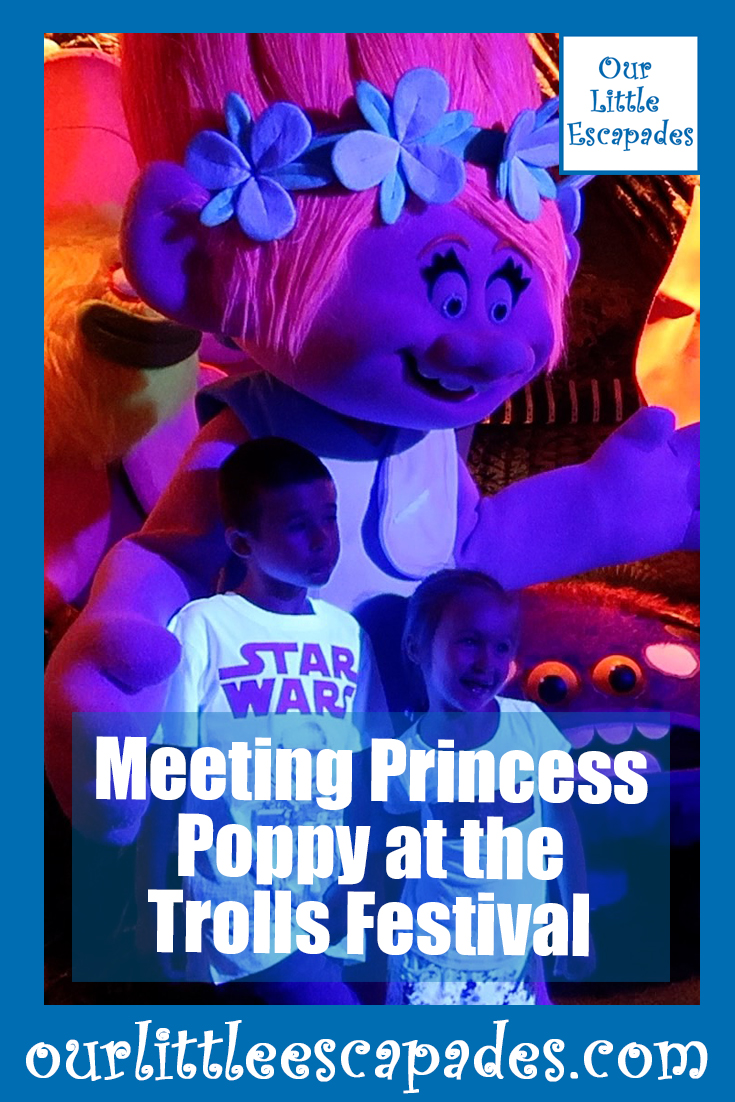 meeting princess poppy at the trolls festival