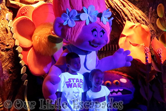 meeting princess poppy trolls festival shreks adventure london