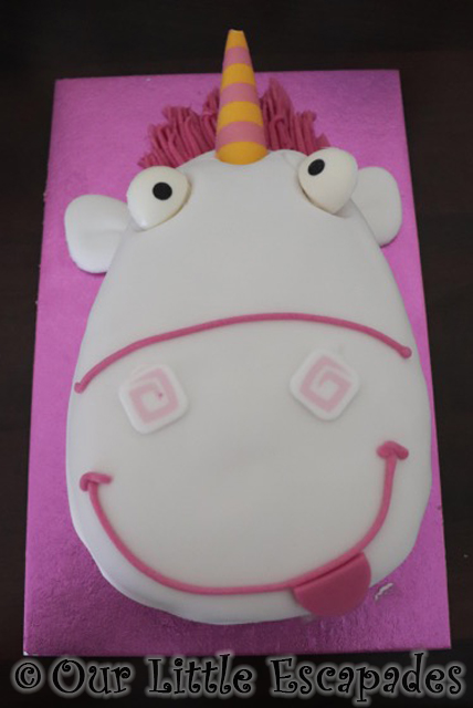 unicorn cake despicable me fluffy unicorn asda