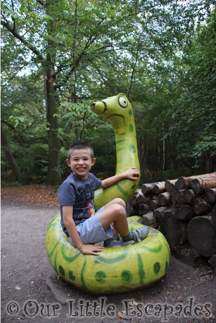 gruffalo trail snake ethan thorndon country park