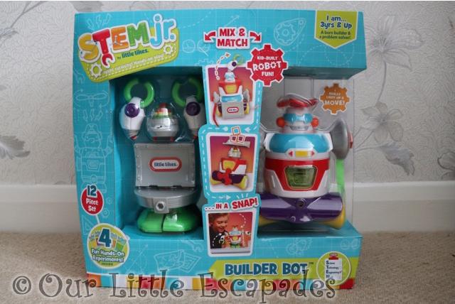 little tikes stem jr builder bot boxed