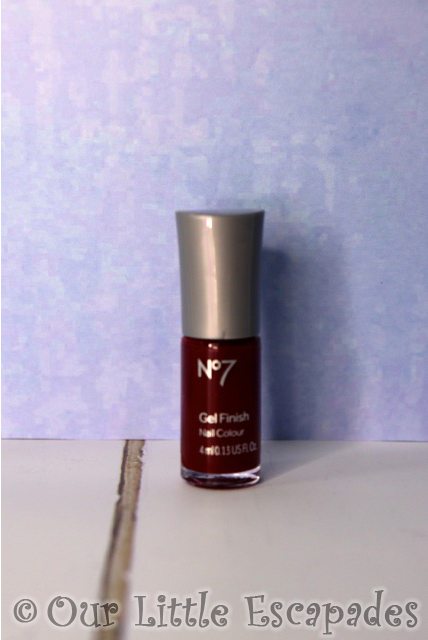 no7 beauty advent calendar No7 Gel Finish Nail Colour Deep Wine