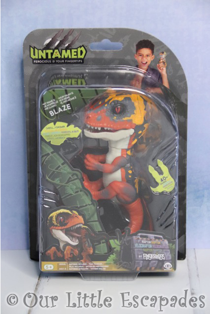 untamed fingerlings raptor dino blaze boxed
