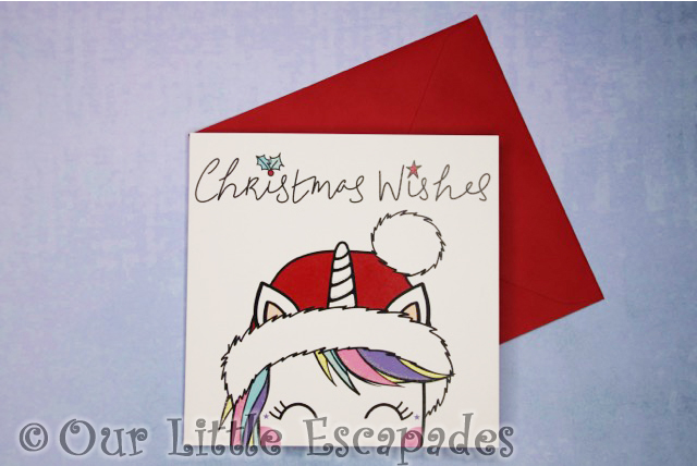 christmas cards kio cards koko unicorn