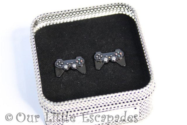 christmas gifts him cufflinks black games controller