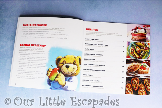 learn to cook with billy the bear contents