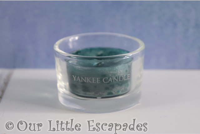 yankee candle advent calendar scented tea light icy blue spruce glass tea light holder