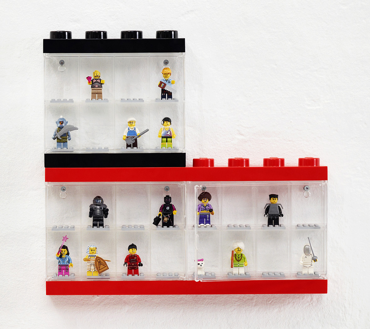 LEGO minifigure display case
