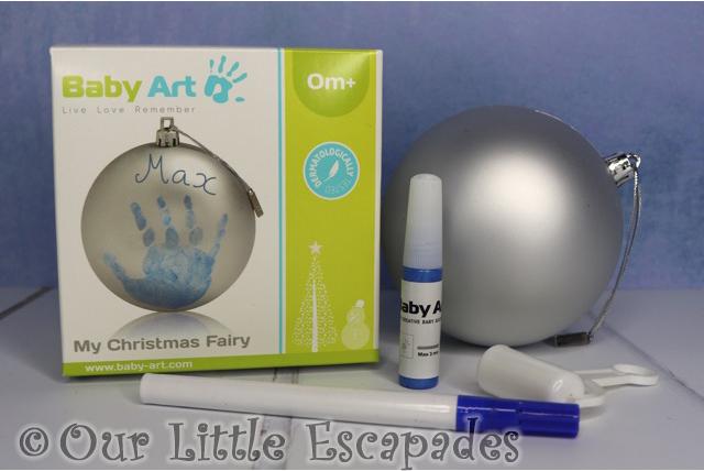 baby art my christmas fairy handprint christmas decoration kit