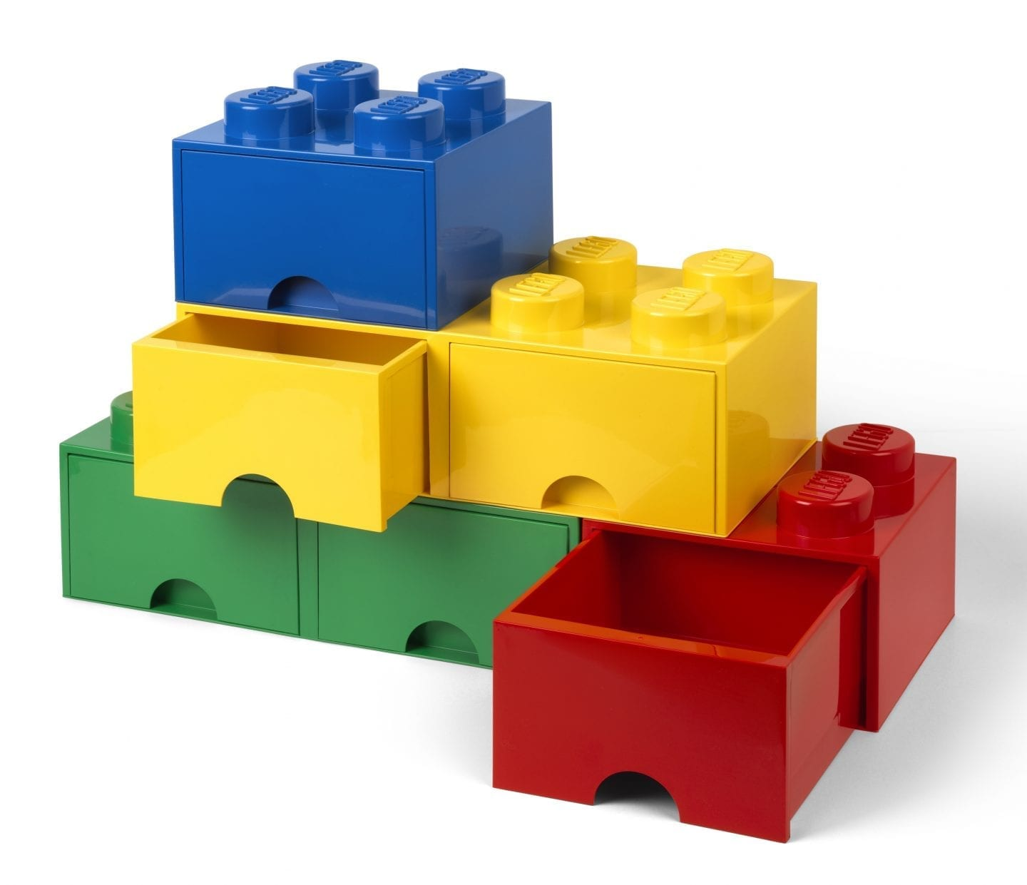 giant LEGO storage brick drawers colours