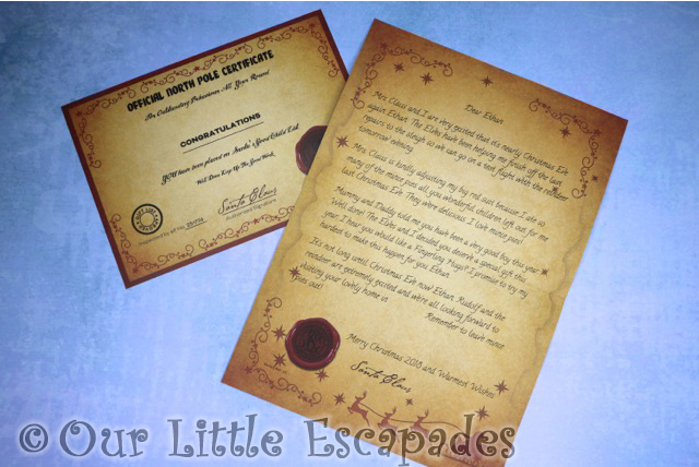 magic santa letter personalised letters from santa i love mince pies