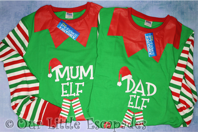 matching christmas pyjamas elf