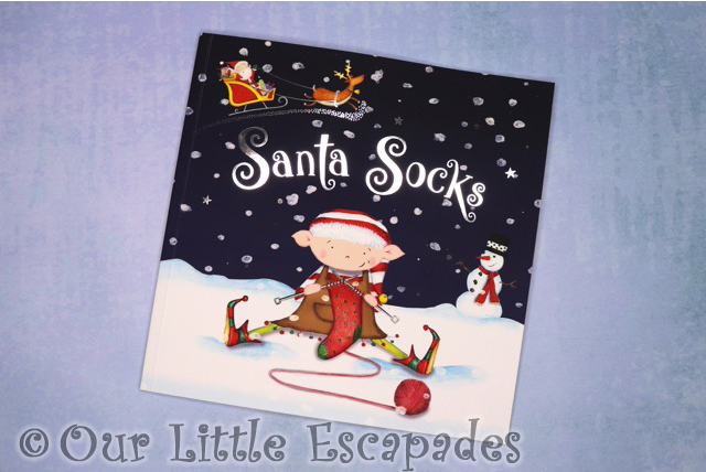 personalised childrens christmas book santa socks
