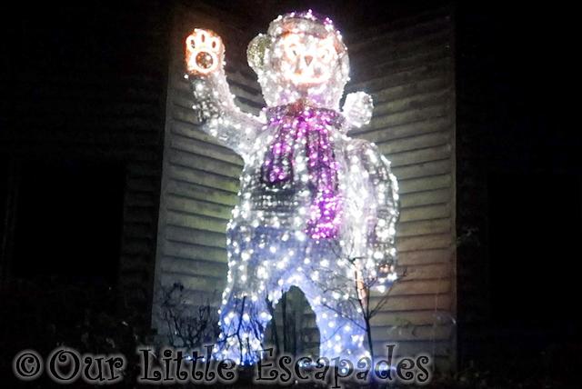 twilight christmas experience colchester zoo christmas lights polar bear