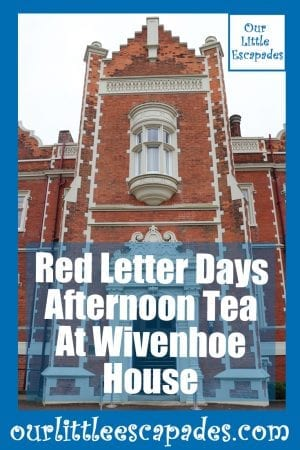 Red Letter Days Afternoon Tea At Wivenhoe House